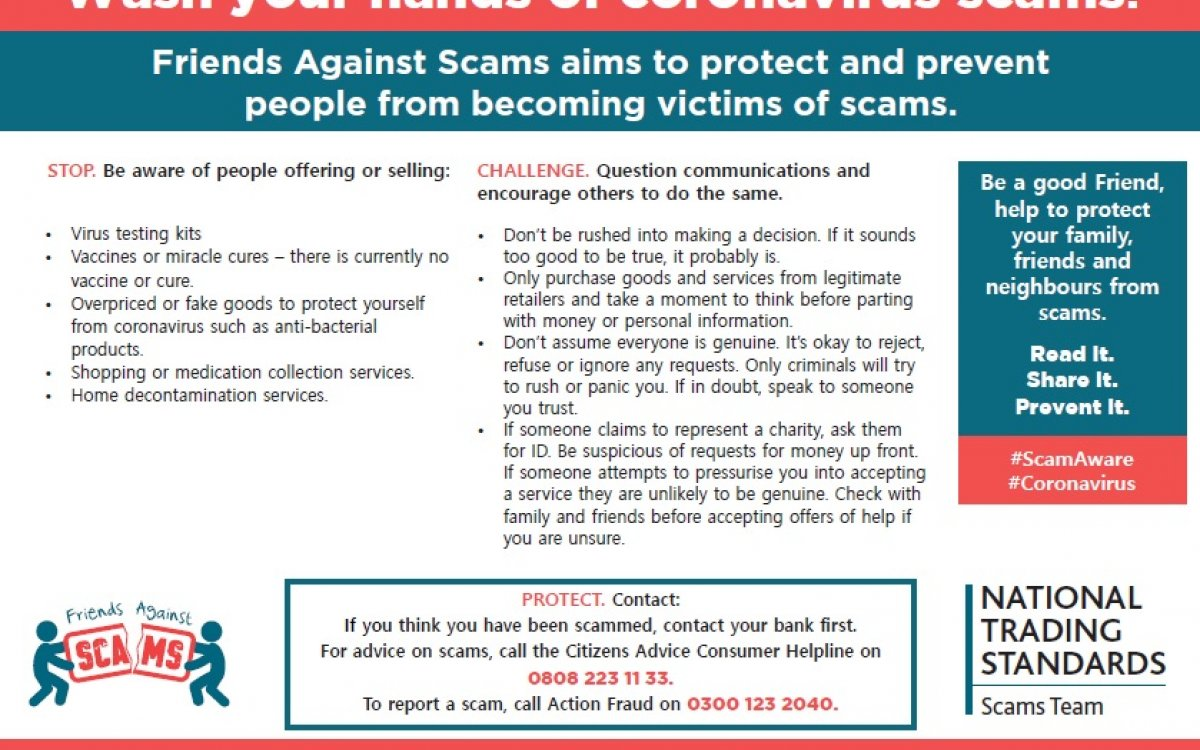 Friends Against Scams aims to protect and prevent people from becoming victims of scams.